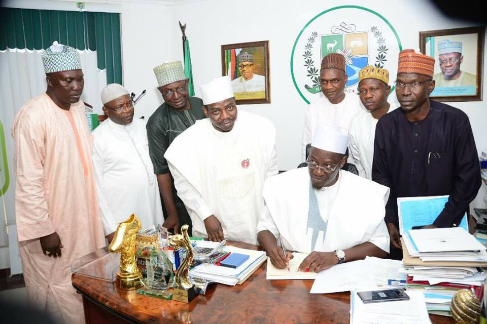 Gov Ahmed Signs 2018 Budget of N190.9b into Law