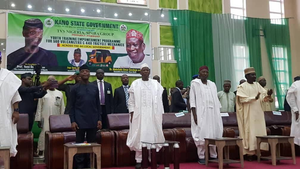 Osinbajo Flags-off Ganduje's Vulcanizers, Tricycle Operators Empowerment Programme
