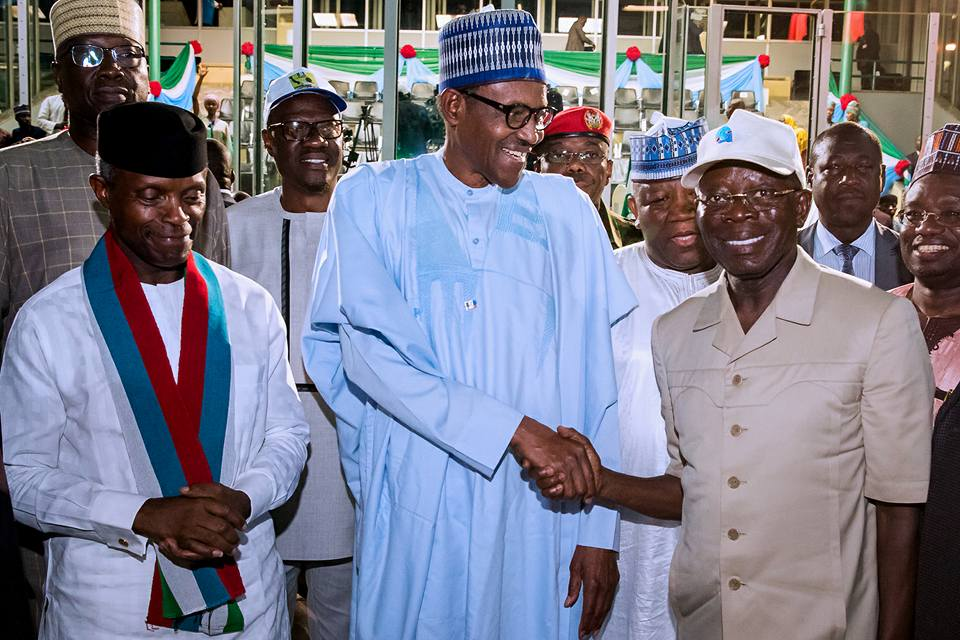 Oshiomhole Accepts Defeat, Pledges Loyalty to Buhari, APC