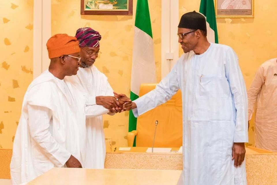 Osun 2018: Aregbesola, Oyetola Meet Buhari In Aso Rock