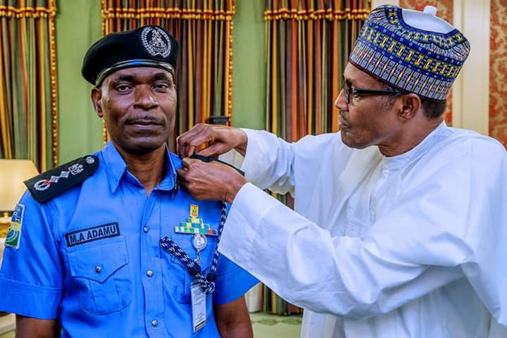 Just in: Buhari Decorates Mohammed Adamu As IGP