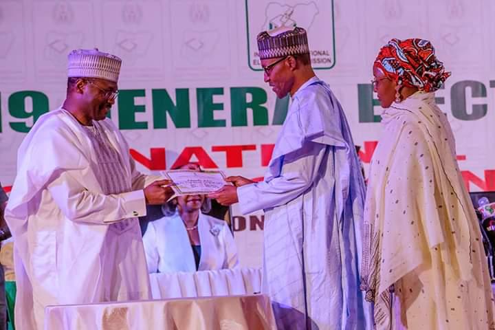 Buhari Receives Certificate of Return From INEC
