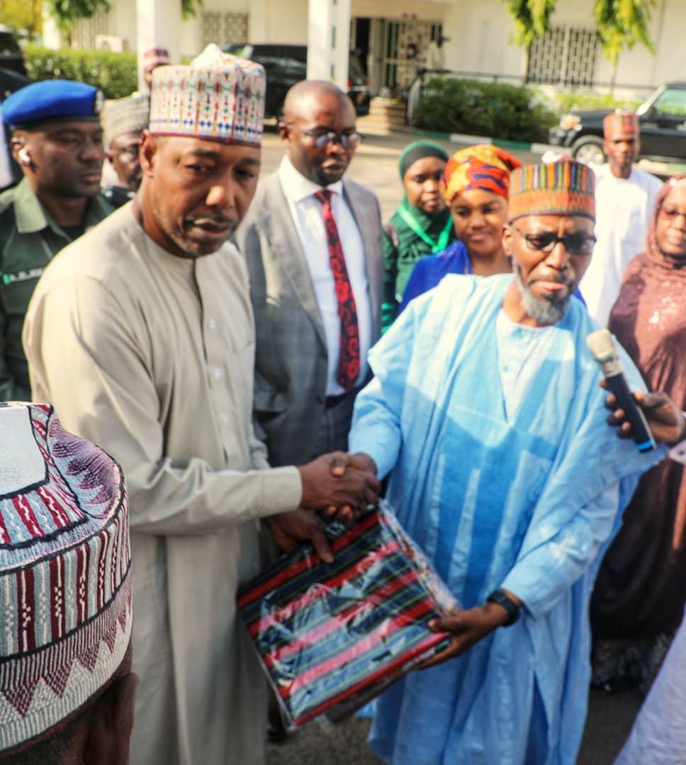 IDPs: Jaiz Bank Meets Governor Zulum, Donates 600 Bags of rice