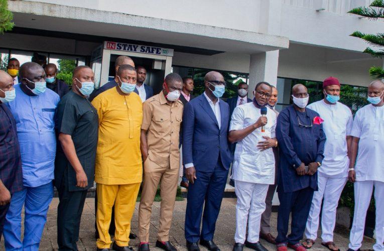 Edo Assembly Members Visit Obaseki, Pledge Loyalty