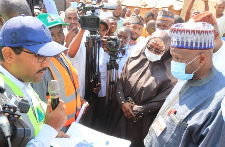 Governor Yahaya Inspects Ongoing Township Road projects