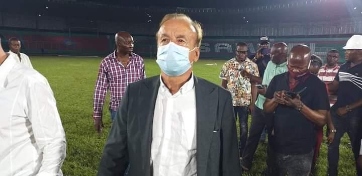 Obaseki Gets Commendation As Super Eagles Arrive Upgraded Ogbemudia Stadium