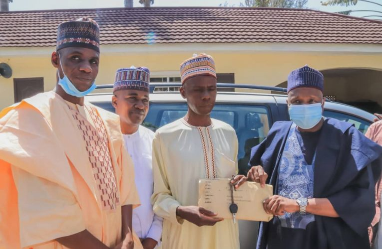 5 Years After, Buhari's Trekker Gets N2m, Car From Gombe Gov