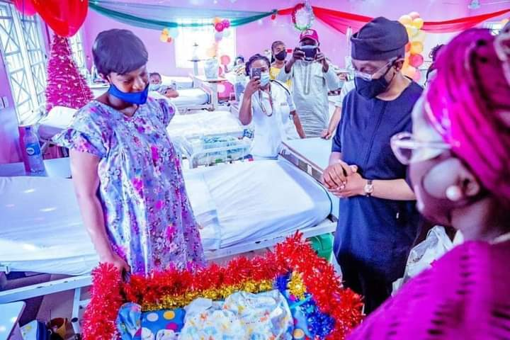 Gbajabiamila Meets First Baby of 2021 In His Constituency