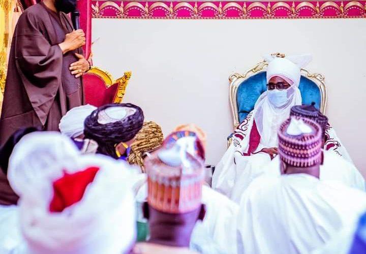 Gbajabiamila visits Zazzau, Commiserates With Emir Over death of Princes